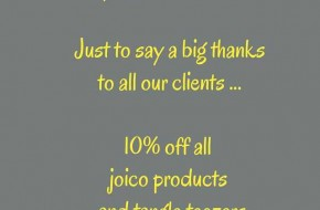 Just to say a big thanks to all our clients....